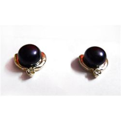 Natural 16.90 ctw Pearl Round Earrings .925 Sterling