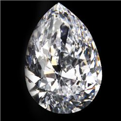 Diamond EGL Certified Pear 1.27 ctw D, SI2