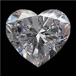 Diamond EGL Certified Heart 1.19 ctw F, SI2