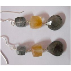 Natural 33.95ct Semi Precious Earring .925 Sterling
