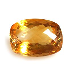 Natural Citrine 6.96 ctw Cushion Cut checkered 15x11mm