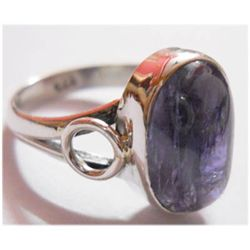 Natural 19.30 ctw Tanzanite Oval Ring 925 Sterling