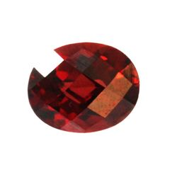 Natural 3.68ctw Garnet Checker Board Oval 8x10 Stone