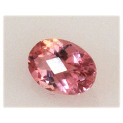Natural 3.1ctw Pink Tourmaline Oval Cut (5) Stone