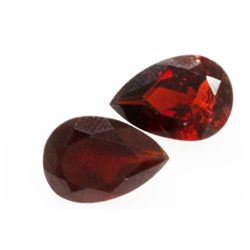 Natural 4.12ctw Garnet Pear Shape 7x10 (2) Stone