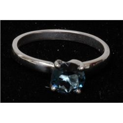 Natural 2ctw London Blue Topaz .925 Sterling Ring