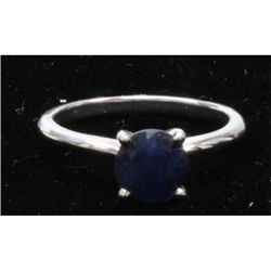 Natural 2ctw Sapphire .925 Sterling Silver Ring