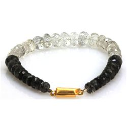 Natural Black Rutile Tourmalated Bracelet 104.37 ctw