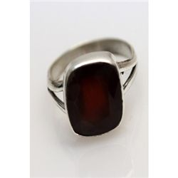 Natural 20.37 ctw Hazonight Garnet Oval Ring .925 Sterl
