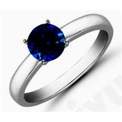 Sapphire1.41 ctw Solitaire Ring 14kt W/Y  Gold