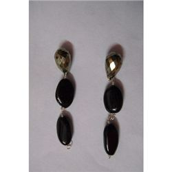 Natural 24.35ct Semi Precious Earring .925 Sterling