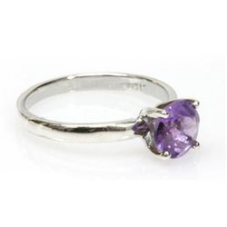 Natural 1.75ctw Amethtyst .925 Sterling Silver Ring