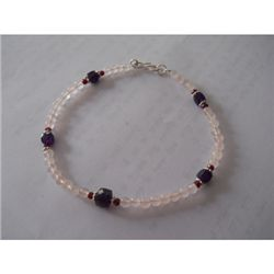 55 .50 ctw Mix Semi  Precious Bracelet .925 Sterling