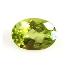 Natural 5.16ctw Peridot Oval 6x8 (4) Stone