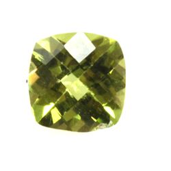 Natural 5.89ctw Peridot Checker Cussion 7x7 (4) Stone
