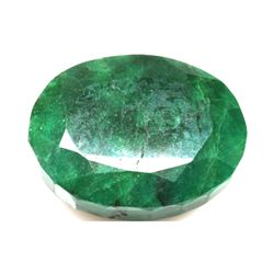 African Emerald Loose Gems 88.82ctw Oval Cut