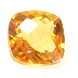 Natural 5.58ctw Citrine Checker Board Cussion 10x14