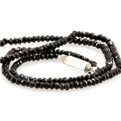 Natural Black Spinal Necklace 49.12ctw with brass clasp