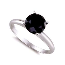Genuine  Black Diamond 4.0 ctw Ring 14K W/Y Gold