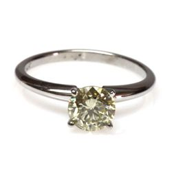 Genuine 1.10 ctw Solitaire Round Ring,  J-K, I1-I2
