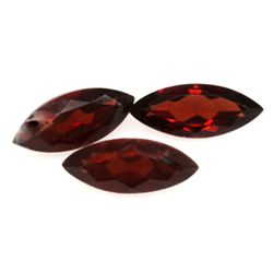 Natural 4.53ctw Red Garnet Marque 5x12 (3) Stone