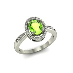 Periodt 1.60 ctw & Diamond Ring 18kt W/Y  Gold