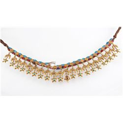 A Fine and Rare Turkish 22 Karat Gold and Precious Stone Necklace