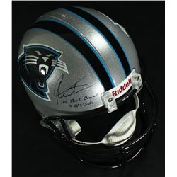 Cam Newton Signed Panthers Full-Size Helmet Inscribed No 1 Pick Overall 11 NFL Draft (Newton Holo)