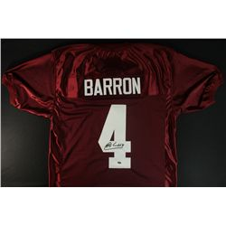 Mark Barron Signed Alabama Jersey (Barron Hologram)