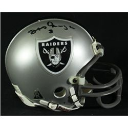 Jeff George Signed Raiders Mini-Helmet (GA COA)