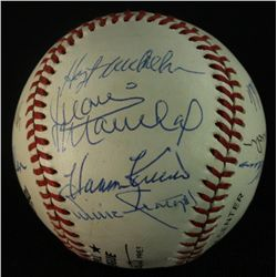 Multi Signed MLB Hall of Famers ONL Baseball: 12 Signatures (GA LOA)
