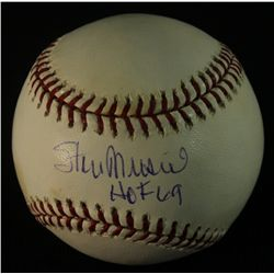 Stan Musial Signed OML Baseball: Inscribed  HOF 69  (PSA COA)