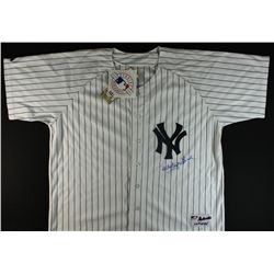 Whitey Ford Signed Yankees Jersey (PSA)