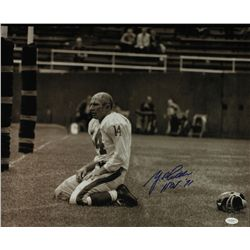 "Y.A. Tittle Signed Giants 20x16 Photo: Inscribed ""HOF 71"" (JSA)"