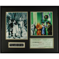 "Jack Haley ""The Wizard of Oz"" 20x16 Display Custom Piece with Original Signed Check (PA LOA)"