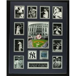Yankee Legends Custom Matted Display Piece with Seat from Yankees Stadium (Steiner)