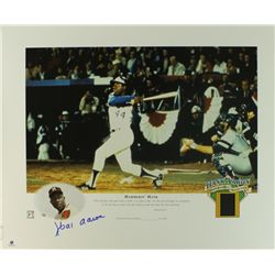 Hank Aaron Signed Braves Limited Edition 16x20 Lithograph #/2500 (GA COA)