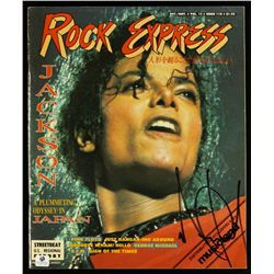 Michael Jackson Signed Rock Express Magazine (GA COA)