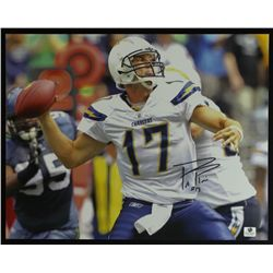 Philip Rivers Signed Chargers 11x14 Photo (GA COA)