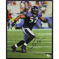 Ray Lewis Signed Ravens 11x14 Photo (GA)