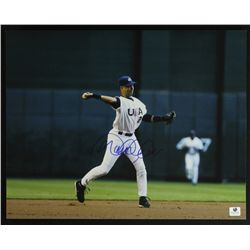 Derek Jeter Signed 11x14 Photo (GA COA)