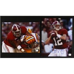 Lot of (2) Albama Signed 8x10 Photos: Greg McElroy & Terrence Cody (GA COA)
