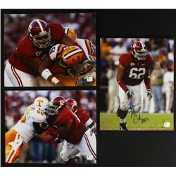 Lot of (3) Terrence Cody Signed Albama 8x10 Photos (GA COA)