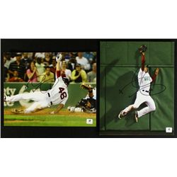Lot of (2) Jacoby Ellsbury Signed Red Sox 8x10 Photos (GA COA)