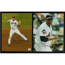 Lot of (2) Signed Baseball Photos: Francisco Rodriguez & Ryan Zimmerman (GA COA)