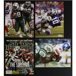 Lot of (4) Signed Jets 8x10 Photos With David Harris, Calvin Pace & John Conner (PSA COA)