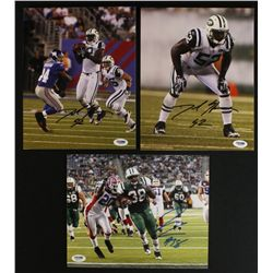 Lot of (3) Signed Jets 8x10 Photos: David Harris & John Conner (PSA COA)