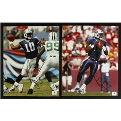 Lot of (2) Vince Young Signed Titans 8x10 Photos (GA COA)