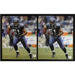 Lot of (2) Lofa Tatupu Signed Seahawks 8x10 Photos (GA COA)