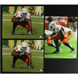 Lot of (3) Russell Okung Signed Oklahoma State 11x14 Photos(GA COA)